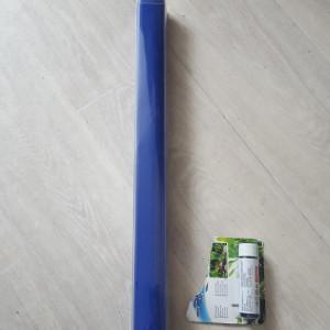 poster de fond 120x50cm bleu ou noir + colle