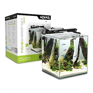 Aquarium AQUAEL Fish&Shrimp (Noir) - 49L