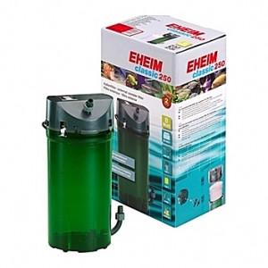 Filtre externe EHEIM CLASSIC 250 (aquarium <250L) 440 l/h + robinets + masses