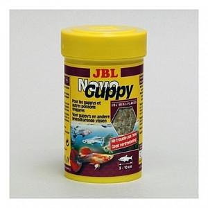 Mini-flocons dédiés aux Guppys et vivipares JBL Novo 100ml