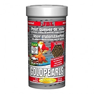 Perles alimentaires pour poissons rouges Premium GOLDPEARLS 250ml