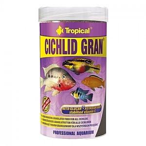Granulés aliments de base ravive couleurs pour cichlidés omnivores CICHLID GRAN 250ml