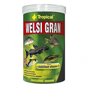 Granulés aliments de base pour poissons de fonds WELSI GRAN 1L