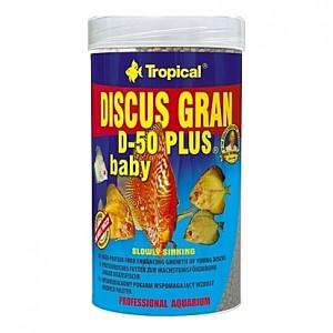 Granulés faciles à ingérer et digérer pour jeunes Discus DISCUS GRAN D-50 PLUS BABY 250ml