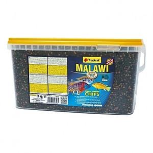 Chips multi-ingrédients pour cichlidés MALAWI CHIPS 5L