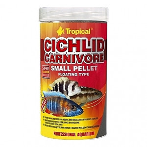 Nourriture riche en protéines pour jeunes cichlidés carnivores CICHLID CARNIVORE Small PELLET 250ml