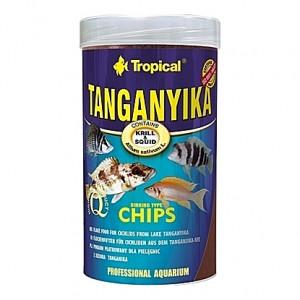 Chips multi-ingrédients dédiées aux grands cichlidés du Lac Tanganyika TANGANYIKA CHIPS 250ml