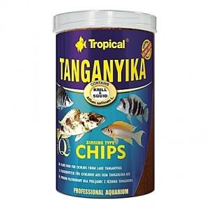 Chips multi-ingrédients dédiées aux grands cichlidés du Lac Tanganyika TANGANYIKA CHIPS 1L