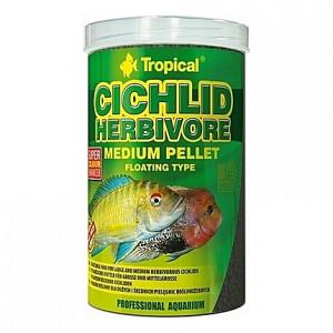 Nourriture végétale avec spiruline CICHLID HERBIVORE Medium PELLET 5L/1,8Kg