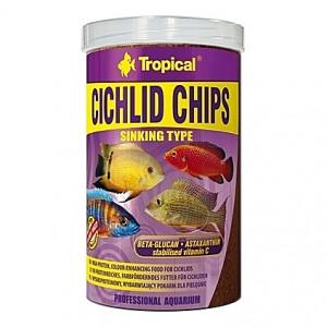 Chips riches en krill, seiche, spiruline, ortie, … CICHLID CHIPS 1L