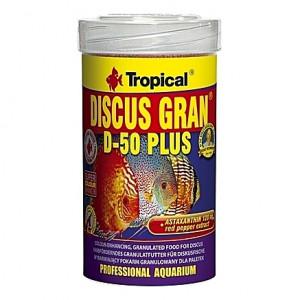 Granulés riches en protéines pour des Discus colorés TROPICAL DISCUS GRAN D-50 PLUS 100ml