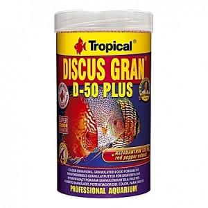 Granulés riches en protéines pour des Discus colorés TROPICAL DISCUS GRAN D-50 PLUS 250ml
