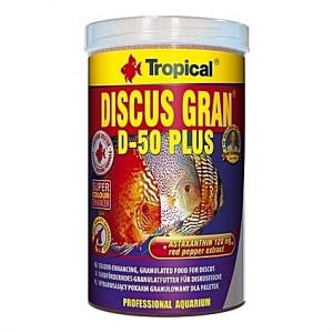 Granulés riches en protéines pour des Discus colorés TROPICAL DISCUS GRAN D-50 PLUS 1L