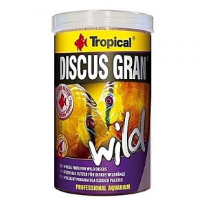 Granulés riches en protéines pour des Discus colorés DISCUS GRAN Wild 1L