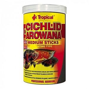Bâtonnets flottants multi-ingrédients CICHLID & AROWANA Medium Sticks 1L
