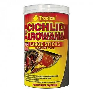 Bâtonnets flottants multi-ingrédients CICHLID & AROWANA Large Sticks 1L