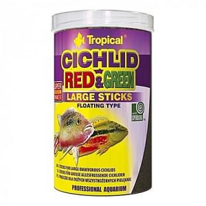 Bâtonnets flottants pour omnivores CICHLID RED&GREEN Large Sticks 1L