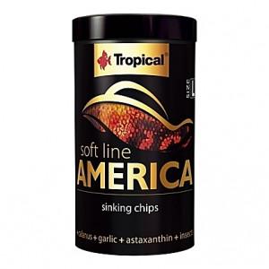Chips coulantes pour omnivores et carnivores d'Amérique SOFT LINE AMERICA L 250ml