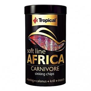 Chips coulantes pour omnivores et carnivores d'Afrique SOFT LINE AFRICA CARNIVORE 250ml