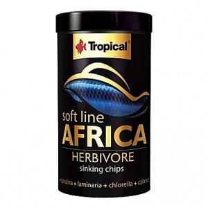 Chips coulantes pour omnivores et herbivores d'Afrique SOFT LINE AFRICA HERBIVORE 250ml