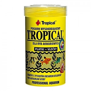 Flocons pour poissons tropicaux omnivores et carnivores TROPICAL 100ml
