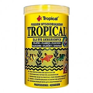 Flocons pour poissons tropicaux omnivores et carnivores TROPICAL 1L