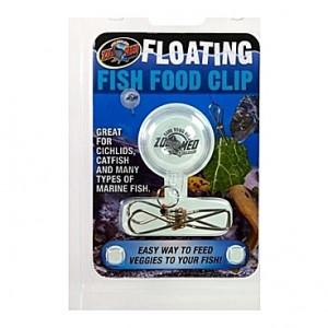 Utilitaire flottant pour maintenir la nourriture à bonne hauteur FLOATING FISH FOOD CLIP ZOOMED