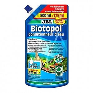Neutralisateur de chlore et métaux lourds + protection des pensionnaires JBL Biotopol recharge - 625ml