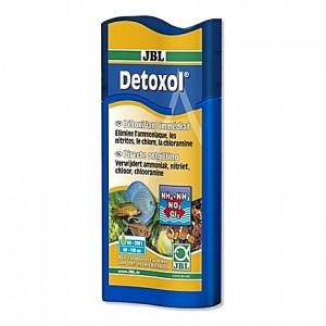 Détoxifiant immédiat contre l'ammoniaque, les nitrites, le chlore et la chloramine JBL Detoxol - 250ml
