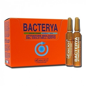 Activateur biologique du cycle de l'azote Equo BACTERYA - 24 ampoules 5ml
