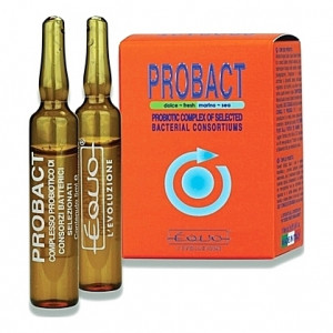 Complexe probiotique Equo PROBACT à action antibiotique et antivirale - 6 ampoules 5ml