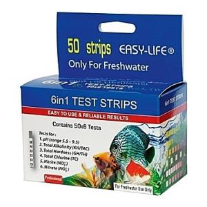 Bandelettes de test de qualité d'eau 6 en 1 - 50 tests
