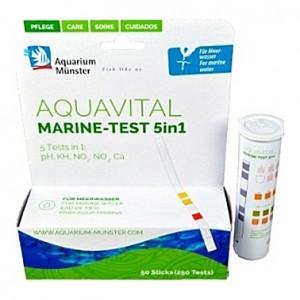 Bandelettes de test de qualité d'eau AQUAVITAL MARINE-TEST