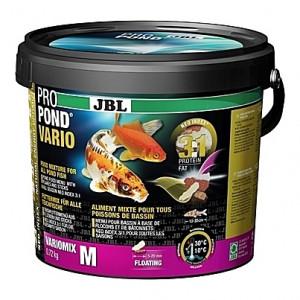 Flocons et bâtonnets flottants JBL ProPond Vario Flakes & Sticks Taille M (5 à 20mm) - 0,72Kg