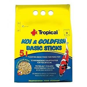 Bâtonnets flottants Tropical KOI & GOLDFISH BASIC Sticks - 5L