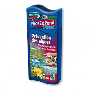 Prévention des algues JBL PhoEx Pond Direct par élimination des phosphates - 500ml